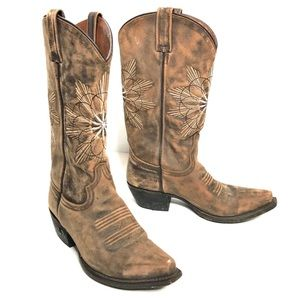 Eight Second Angel Cowboy Boots Genuine Leather 7